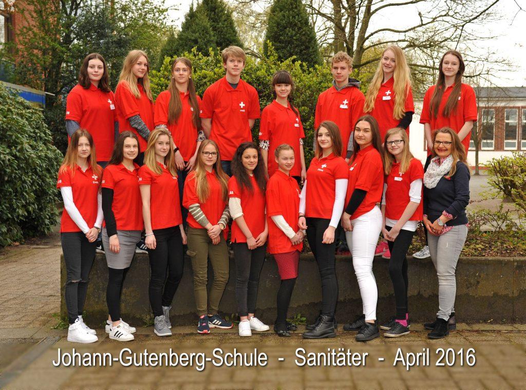 Schulsanitäter – Johann-Gutenberg-Schule | {Schulsanitäter 17}