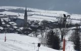 Skifahren bei traumhaftem Wetter
